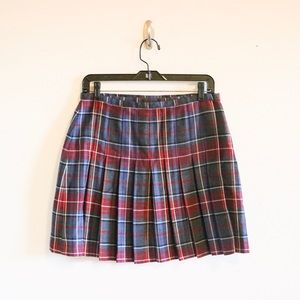 VINTAGE Limited plaid pleated wrap skirt size 12